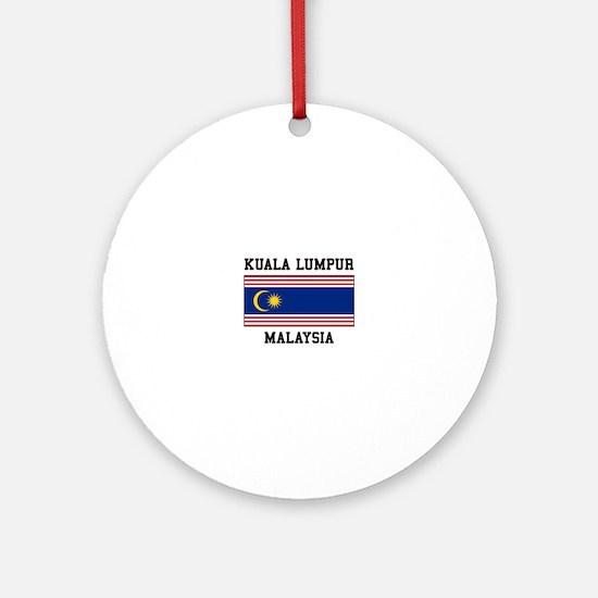 Kuala Lumpur Malaysia Ornament (Round)