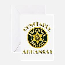 Arkansas Constable Greeting Card