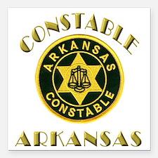 "Arkansas Constable Square Car Magnet 3"" x 3"""