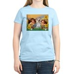 Angels with Yorkie Women's Light T-Shirt