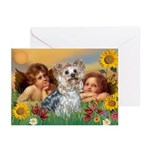 Angels with Yorkie Greeting Cards (Pk of 20)