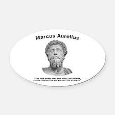 Aurelius: Strength Oval Car Magnet