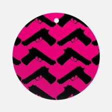 pink guns Ornament (Round)