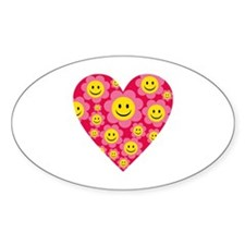 smiley heart Decal