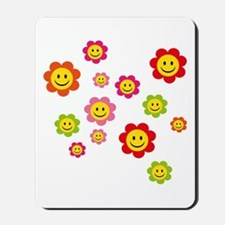 Flower Power smiley Mousepad