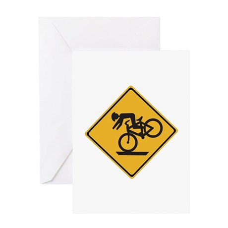 Helmets Recommended - USA Greeting Card