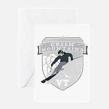Ski Green Mountains Greeting Card
