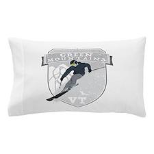 Ski Green Mountains Pillow Case