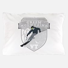 Ski Green Mountains Pillow Case