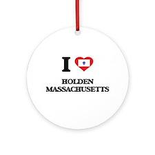 I love Holden Massachusetts Ornament (Round)