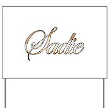 Gold Sadie Yard Sign