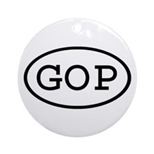 GOP Oval Ornament (Round)