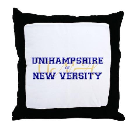 Unihampshire of New Versity -- Throw Pillow