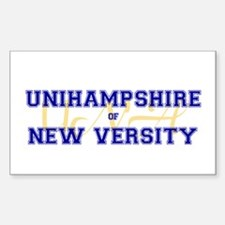 Unihampshire of New Versity -- Sticker (Rectangul