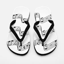 White - Music, Music, Music Flip Flops