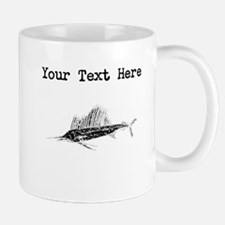 Distressed Sail Fish Silhouette (Custom) Mugs