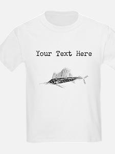 Distressed Sail Fish Silhouette (Custom) T-Shirt