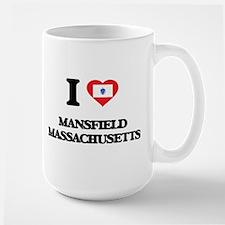 I love Mansfield Massachusetts Mugs