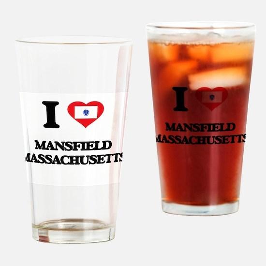I love Mansfield Massachusetts Drinking Glass