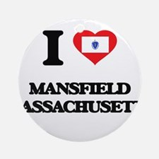 I love Mansfield Massachusetts Ornament (Round)
