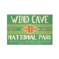 Wind Cave National Park (Retro) Rectangle Magnet