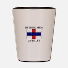 Netherlands Antilles Shot Glass