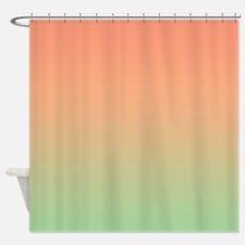 Peachy Sunset Shower Curtain