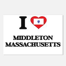 I love Middleton Massachu Postcards (Package of 8)
