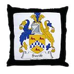 Swift Family Crest Throw Pillow