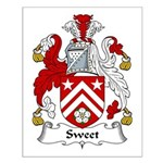 Sweet Family Crest Small Poster