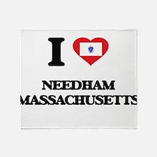 I love Needham Massachusetts Throw Blanket