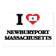 I love Newburyport Massac Postcards (Package of 8)