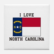 i Love north carolina Tile Coaster