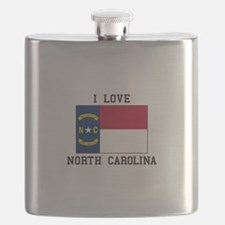 i Love north carolina Flask