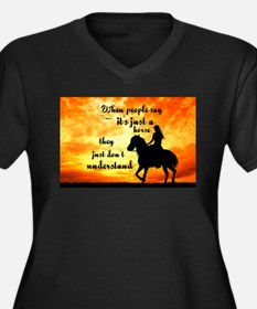 Just a Horse Plus Size T-Shirt