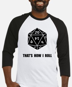 20 Sided Dice Roll Baseball Jersey