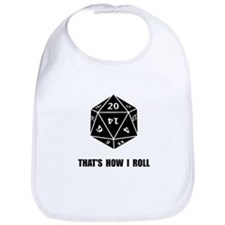 20 Sided Dice Roll Bib