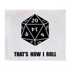 20 Sided Dice Roll Throw Blanket