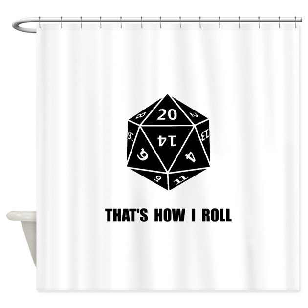 20 Sided Dice Roll Shower Curtain By Admin Cp15029390