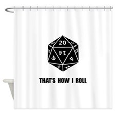 20 Sided Dice Roll Shower Curtain