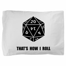 20 Sided Dice Roll Pillow Sham
