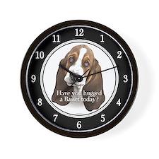 Basset hug Wall Clock