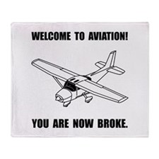 Aviation Broke Throw Blanket
