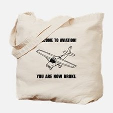 Aviation Broke Tote Bag
