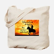 Just a Horse Tote Bag