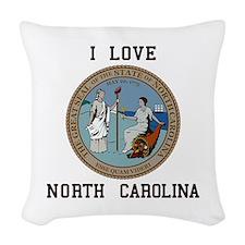I love North Carolina Woven Throw Pillow