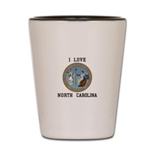 I love North Carolina Shot Glass