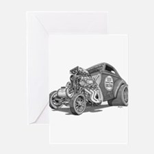 Cute Automotive Greeting Card