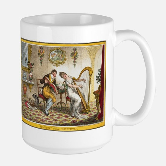 Victorian Courtship and Harp Music Mugs
