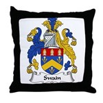 Swain Family Crest Throw Pillow